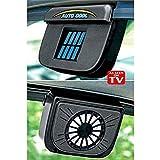 DR Mall Solar Powered Car Window Cool Air Vent Auto Fan