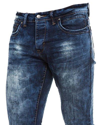 BLZ jeans - Jean bleu homme fashion délavé Bleu