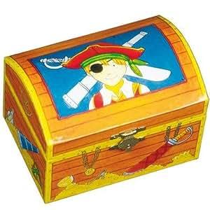 Coffre aux trésors de pirates Boîte de rangement Jouet Enfant 3 ans +
