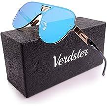 Gafas De Sol De Aviador VERDSTER TourDePro Para Hombres y Mujeres – Aptos para Conducir – Montura Cómoda con Protección UV – Incluye un estuche, funda y un pañuelo