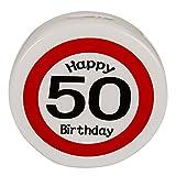 2 x Spardose - Happy Birthday 50 | 50. Geburtstag | Geburtstagsartikel | Party | Partydeko | Geburtstagsdekoration | Geburtstagszubehör | Glückwunsch | Geburtstagsgeschenk | Partyaccessoire | Spardose | Geburtstagsparty | Preis am Stiel®