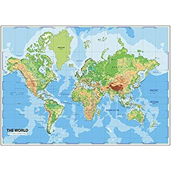Buy world map poster peel and stick wallpaper in different sizes world map wall posters ship routes major cities water bodies world map wallpaper for office school and educational purposes non tearable washable gumiabroncs Images