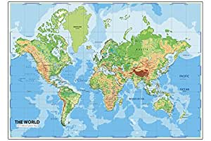 Buy walls and murals world map wall posters 70 x 104cm online at walls and murals world map wall posters 70 x 104cm gumiabroncs Choice Image