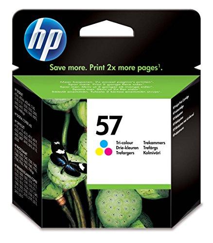 HP 57 Cartouche d'Encre Trois Couleurs (Cartouche Cyan, Magenta, Jaune) Authentique (C6657AE)
