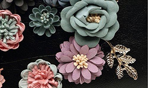 Koreanische Version des Blumenbeutels, Beutel, Handtasche, Bankettpaket, Handtaschen, Kettenschrägrucksack, kleine quadratische Tasche, Kettenhandtasche ( Farbe : Pink ) Rose red