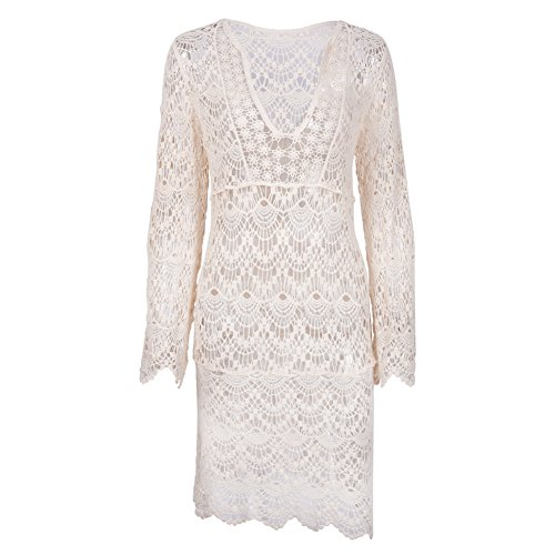 dcf9136603 Beach Blouse, iBaste Beige Hollow Lace Hook Beach Skirt Swimsuit Cover up  For Summer