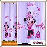 Kids voile fabric material-MINNIE MOUSE pattern-drop 150cm(approx 59), sold by the pattern repetition by Disney