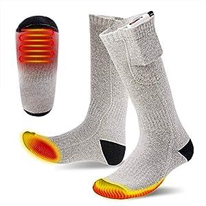 Beheizte Socken, wiederaufladbare Socken Fußwärmer-Heizsocken für Herren und Damen USB-Ladeheizsocken für den Außenbereich