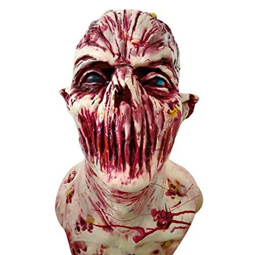 Horror Realistische Kostüm - Tincocen Halloween Requisit Walking Dead Latex Maske Voller Kopf Realistische Horror Zombie Masken Kostüm Party Dekoration