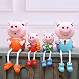 MM Familia creativa de cuatro resina que cuelga la muñeca artesanía regalos decoraciones para el hogar adornos regalos,UN,12cm