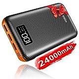 KEDRON Powerbank 24000mAh Externer Akku mit Lighting&Micro 2 Eingänge und 3 Ausgänge Power Bank Handy für Smartphones, Tablett
