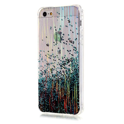 MOONCASE SE Coque, Brushed Glitter Sparkle Bling Coloré Motif Étui Coque pour iPhone 5 / 5S / SE Soft TPU Gel Souple Case Housse de Protection CrossBones Raindrop