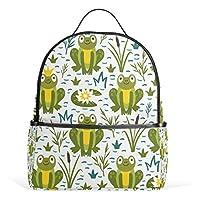 MyDaily Cartoon Frog Backpack for Boys Girls School Bookbag