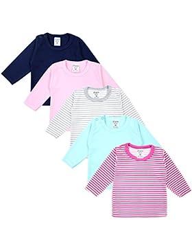 TupTam Baby Mädchen Langarmshirt Gestreift 5er Set