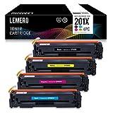 4 LEMERO Kompatibel CF400X CF401X CF402X CF403X 201X Farbe Toner für HP Color Laserjet Pro M250 Series M252 M252N M252DN M252DW M270 Series MFP M274N M274DN M277N M277DW Schwarz Cyan Magenta Gelb