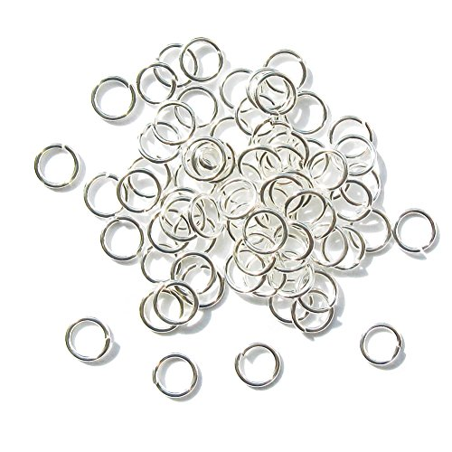 300 Silver Pltd 6mm Jump Ring Jewellery Making Findings