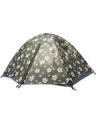Al aire libre equipo montañismo al aire libre equipo de Camping resistente al viento transpirable mástil de aluminio doble litera Camping tienda de campaña