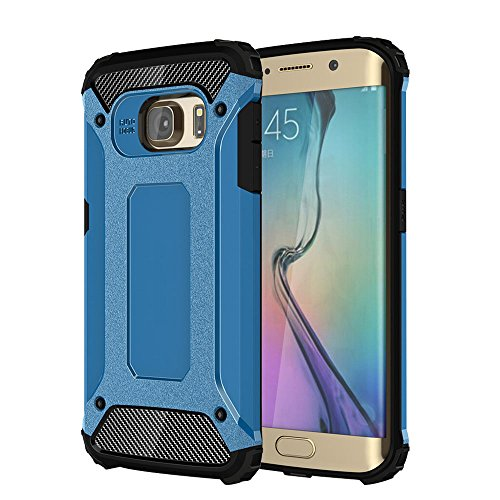 Skitic 2 in 1 Hybrid Armor Schutzhülle für iPhone 6 / 6S, Detachable Urban Gear Rugged Tough Design Stoßfest Hart PC Hülle + Weiche Flexibel TPU Gel Silikon Case Kombination Layer Bumper Cover Schale  Blau