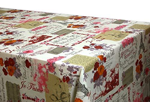 Mantel Antimanchas Flores Mabel