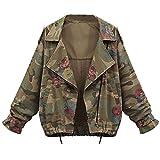 VEMOW Herbst Damen Frauen Plus Größe Lose Flügelhülse Camouflage Lässige Tägliche Lose Mantel Tops Jacke Outwear(Tarnung, EU-48/CN-4XL)