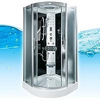AcquaVapore DTP8046-6010 Dusche Duschtempel Komplett Duschkabine 100x100 XL