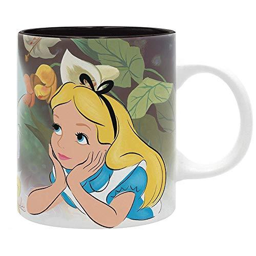 Alice im Wunderland Disney Premium Keramik Tasse - Hutmacher Grinsekatze & Alice - Geschenkbox