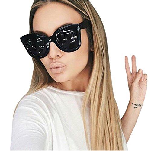 Occhiali da sole retro, feixiang® donna & uomo classic moda occhialoni unisex ovale occhiali vintage occhio del gatto telaio shades acetato uv (a)