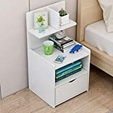 Ballshop Bedside Table Shelf Simple and Contemporary Bedroom Store Content Ark Small Multifunctional Simple Receive Bedside Cabinet Furniture Drawer Bedside