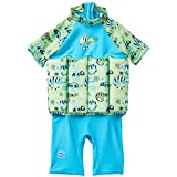 Splash About Collections UV UPF50+ Sun Protection Float Suit with Adjustable Buoyancy, Green Gecko, 2-4 Years
