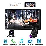 17,8 cm Double Din Voiture Stéréo Audio Bluetooth Touch MP5 Lecteur USB FM Téléphone Android Miroir Lien...