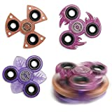 Fidget Spinner Stapel Set (3 Stück) Handspinner Stresskiller Finger Spielzeug, Hand Spiner anti Stress Toy (Design Beta, Rottöne)