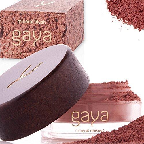 Gaya Cosmetics Mineral Blush Rouge Puder – Vegan Wangenrouge Women Make Up für langanhaltende Resultate in einer 9g Dose (BF4 Shade)