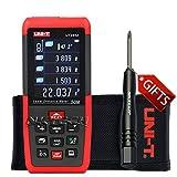 Nktech uni-t UT395A LCD misuratore di distanza laser 50m/50m misura M/in/ft auto-calibrazione test per area volume distanziometro telemetro professionale tester + cacciavite tl-1