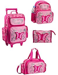 Kinder-Trolley-Set - 4-teilig - Trolley, Rucksack, Reisetasche, Kulturtasche