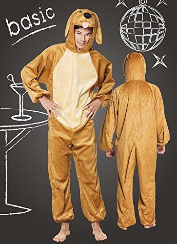 Fancy Ole - Kinder Motto-Party Karneval Kostüm Plüsch Hund, Onesie-Jumpsuit, 152-164, 12-14 Jahre, (Kostüme Plüsch Kinder Giraffe)