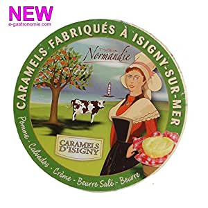 Caramels d'Isigny Normandie - boite bois 75g