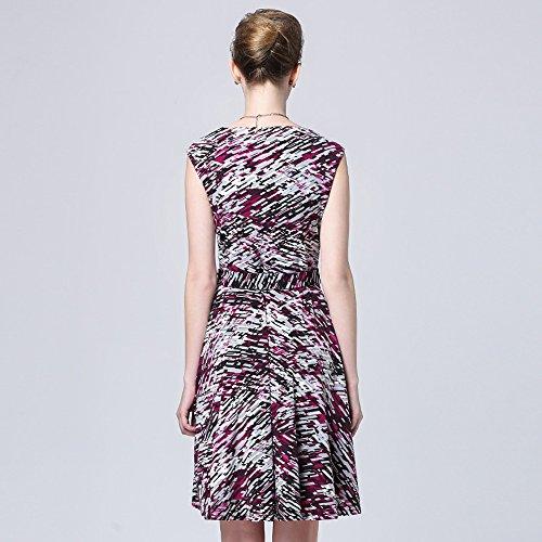 Sarah Dean Newyork - Robe - Robe - Femme violet imprimé imprimé