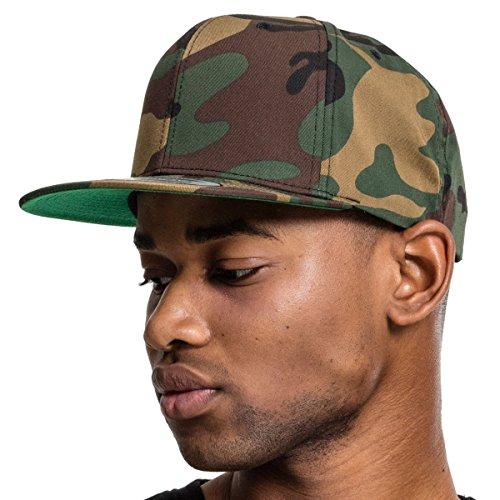 Flexfit Camo Classic Snapback Cap, One Size