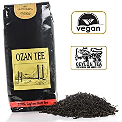 OZAN TEE – Schwarzer Tee 250g – Lose Teeblätter – Reich an kräftigen und würzigen Aromen – Ceylon Tee Orange Pekoe mit Qualitätssiegel – 100% Black Tea – Koffeinhaltig – aus biologischem Anbau 100% Bio – Für jeden Teeliebhaber genau das richtige!