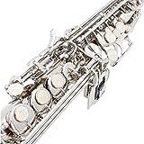 LADE Saxophone Soprano SAX Bb en Laiton Laqué Corps et Touches avec Cork Graisse Lubrifiante