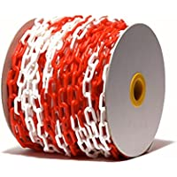 PCH-6x50.0 Cadena de plástico de color rojo y blanco de 6 mm y 50 metros de longitud