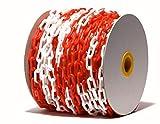 PCH-6x50.0 Rote und weiße Kunststoffkette 6 mm, 50 Meter lang