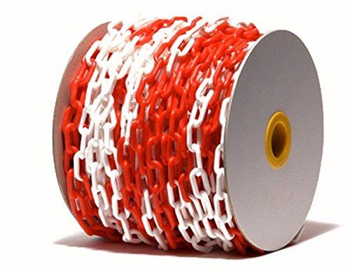 Preisvergleich Produktbild PCH-6x50.0 Rote und weiße Kunststoffkette 6 mm, 50 Meter lang