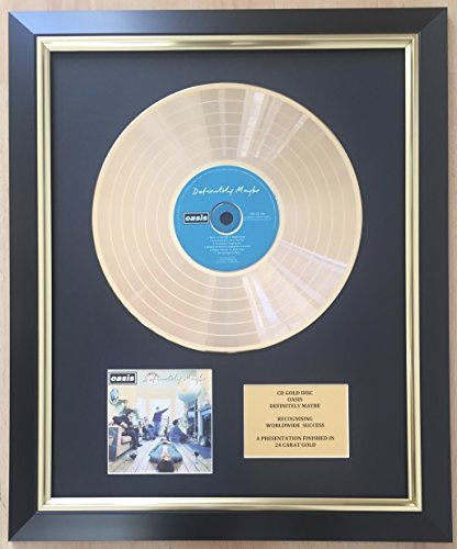 Oasis Limited Edition CD Gold Disc Record Definitely Maybe