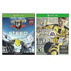 Steep Xbox One Sports Bundle (2 Items) Steep Xbox One Game Disc and FIFA 17 Xbox One Game Disc