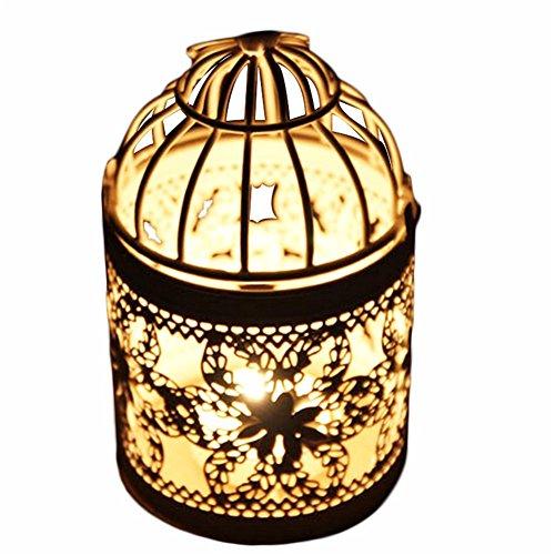 Leisial Kerzenhalter/Laterne aus Eisen, Vintage-Stil, klassischer, europäischer Stil, 14 x 8 cm