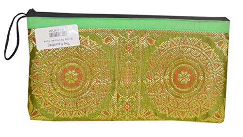 The Rajasthali circel print brocade silk cluth