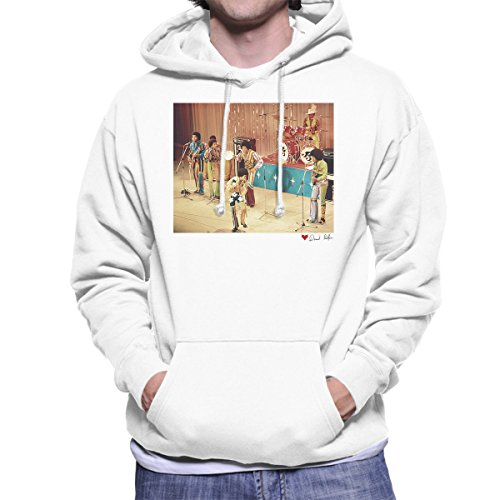 Don't Talk To Me About Heroes David Redfern Official Photography - The Jackson 5 At The Royal Variety Performance White Men's Hooded Sweatshirt