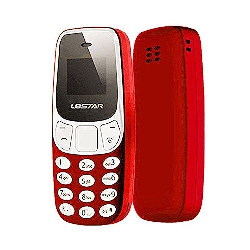 SODIAL Mini telefono Bluetooth El movil mas pequeno del mundo Con Puerto de Sim doble de Cambio L8Star BM10 U8P3 Rojo