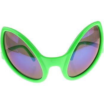 Sharplace Lunettes de Soirée Carnaval Lunettes Extraterrestre pour Adultes  Accessoire Déguisements Halloween - Vert 02b2dfd015dd
